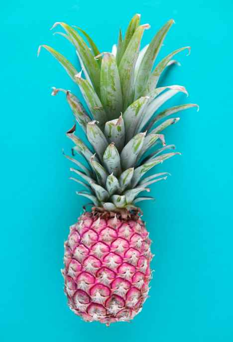 pink and green pineapple